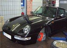 Bremsenservice für einen Porsche